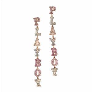 🔄 Playboy Multi Stone Dropped Earrings